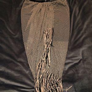 Zara Midi Skirt with Fringe